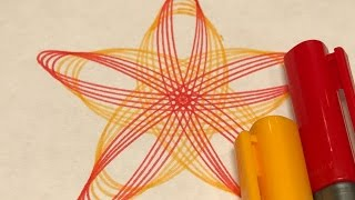 Sun Inspired Red and Yellow Design | Spirograph