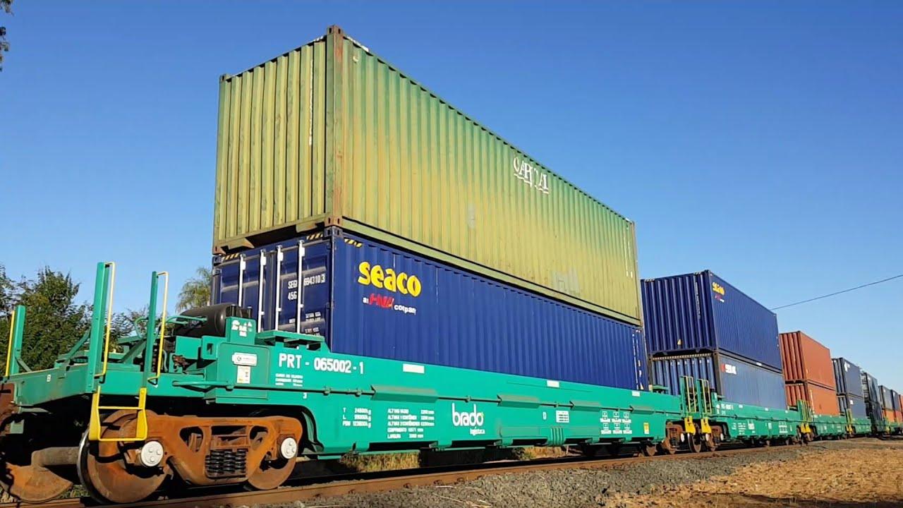 Recomendado! Trem DS Brado | Trem Rumo c/ 125 vagões carregados | Trem MRS unitário.