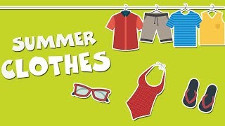 Ropa En Inglés Para Niños Summer Clothes Vocabulary Vocabulario En Inglés Youtube