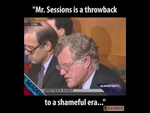 Ted Kennedy Blasts Jeff Sessions in 1986 • BRAVE NEW FILMS