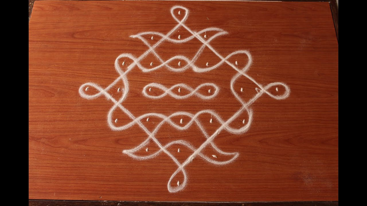 ... to 1 dots-easy kolam designs-muggulu designs with dots - YouTube