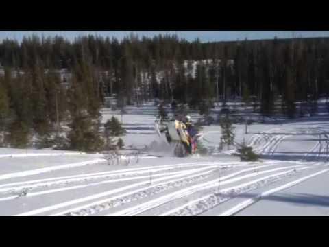 Ski-doo mxz 600 x-rs etec testihommia. wheelie