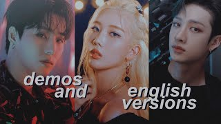 kpop demo songs/english versions that hit different (pt.2)