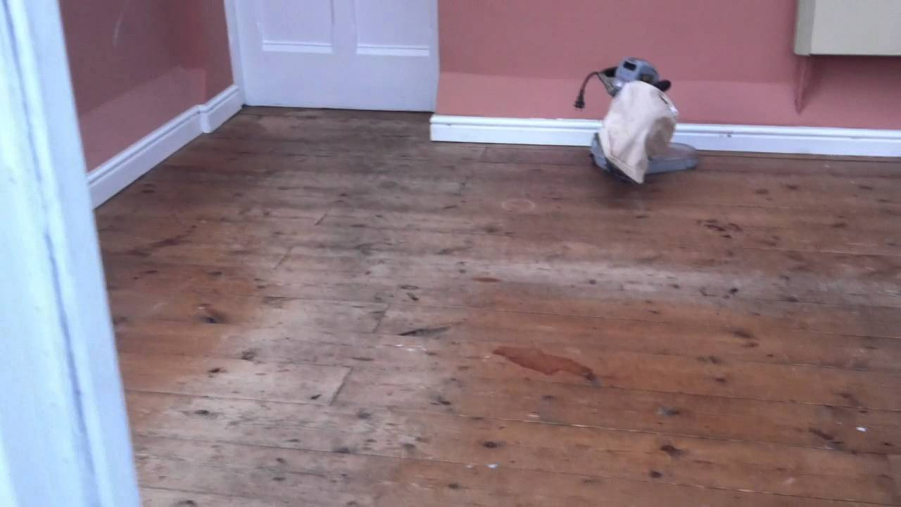 Floor Sanding In Chester Pitch Pine Floorboards Sanded And Refinished Part 1