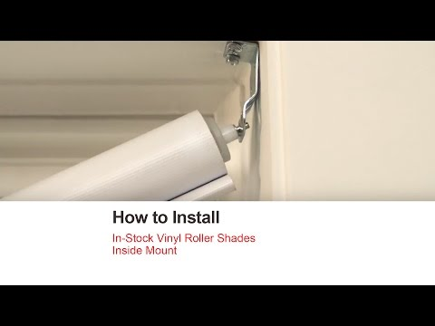 Bali Blinds | How to Install In-Stock Vinyl Roller Shades - Inside Mount