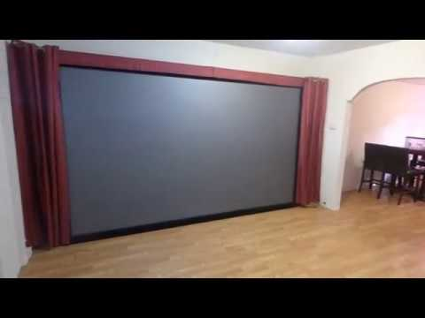 "MY NEW PROJECTION SCREEN 150"" 16:9 CRYSTAL EDGE PLATINUM 4K CINEMA PART 1"