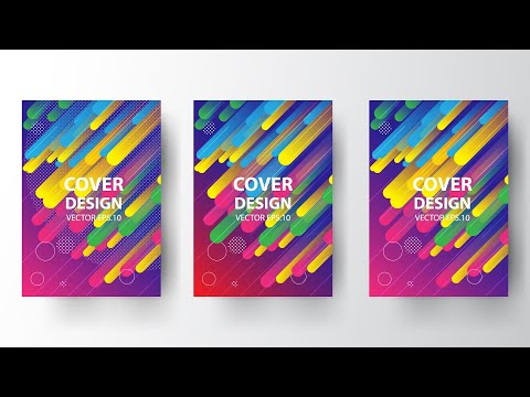 How to Make a Cover in Adobe Illustrator |  Modern Cover  Design thumbnail