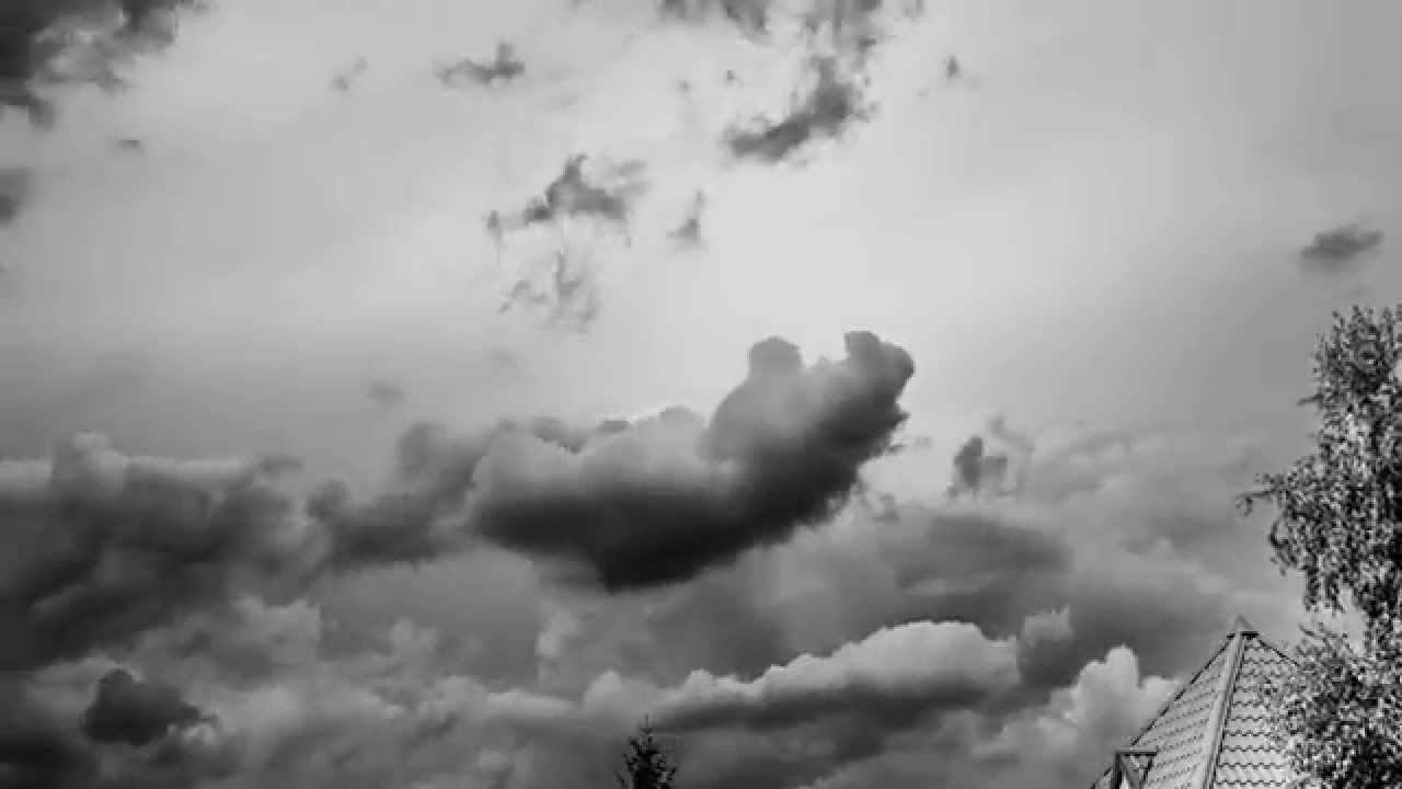 Black and white clouds time lapse