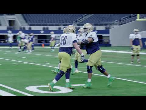 Notre Dame Practice at AT&T Stadium on Christmas Day