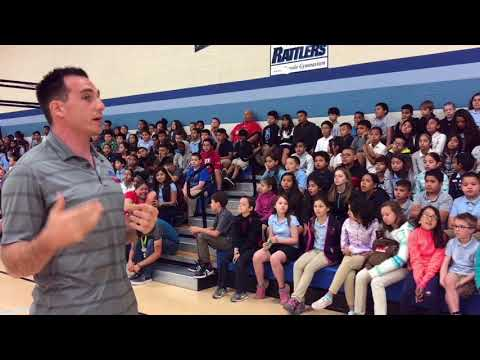 Justin Posey Motivational Speaking at Craycroft Elementary School