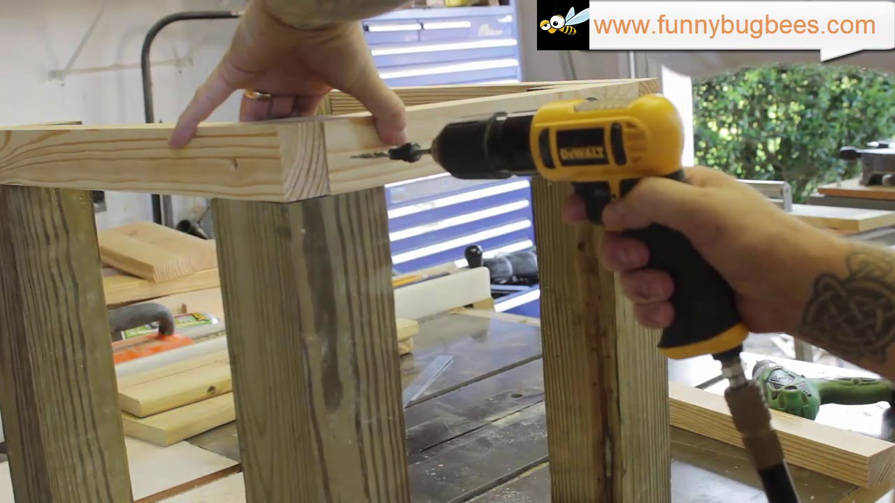 Hive Stand Designs : Howto build a heavy duty bee hive stand youtube