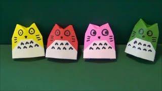 方 折り 折り紙 の トトロ