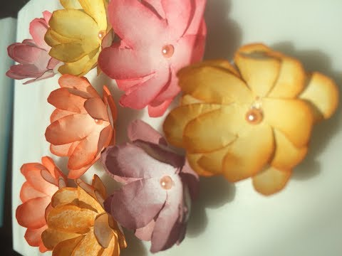 Paper flowers without Craft Punch and Embossing tools| DIY paper Flowers | Handmade flowers