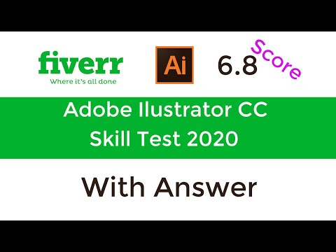 Fiverr Adobe Illustrator Skill Test Full Answer - Fiverr Skill Exam 2020