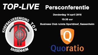 Persconferentie TOP/Quoratio, donderdag 14 april 2016