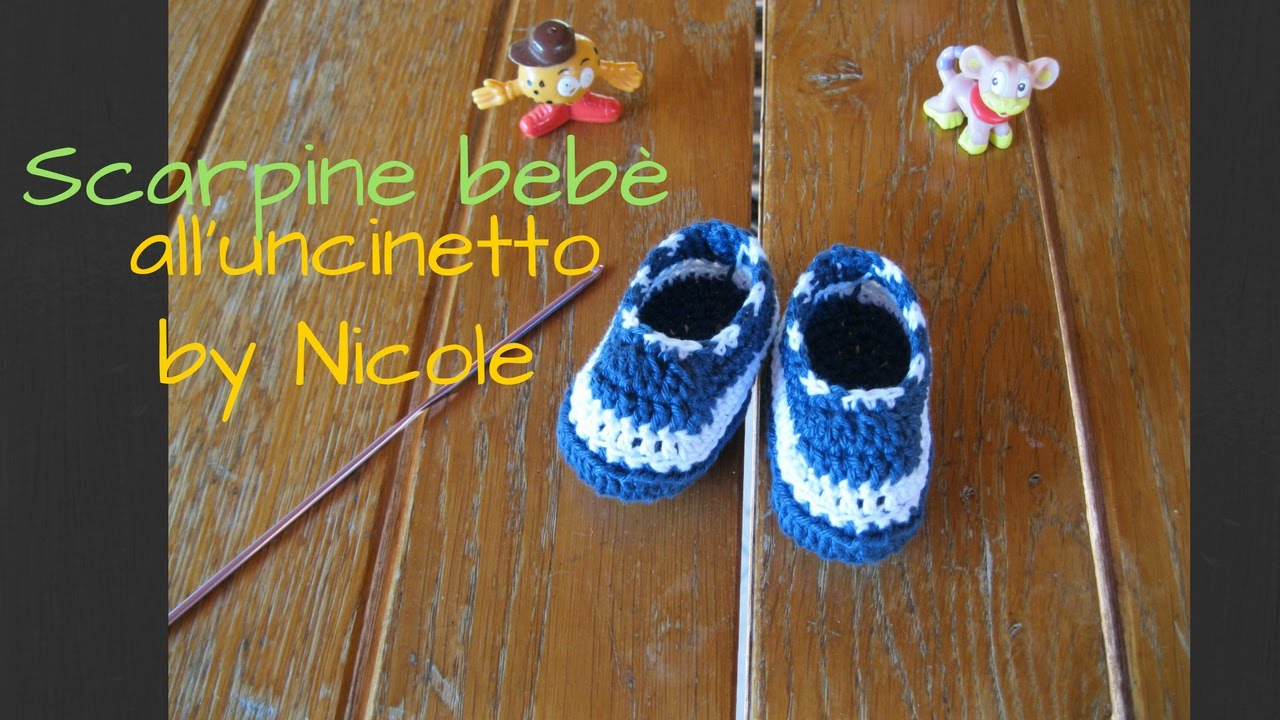 Scarpine Crochet Youtube Bebè Baby Alluncinetto Tutorial Slippers