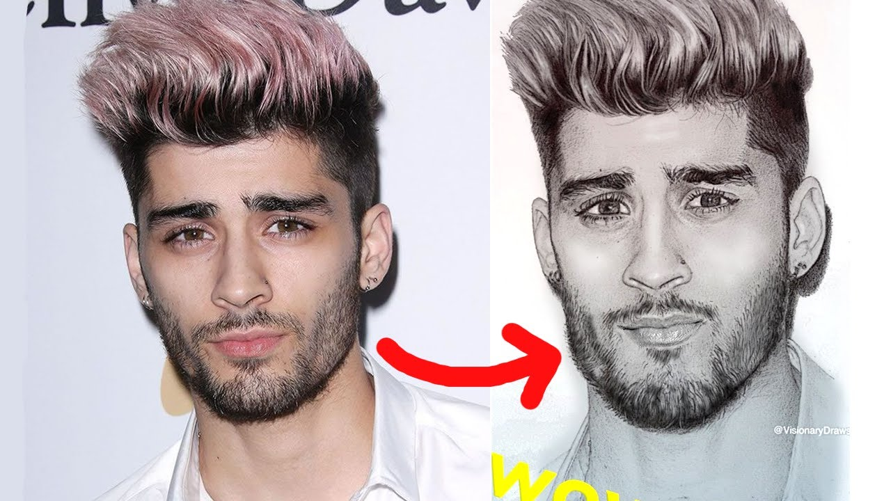 How to draw drawing zayn malik a fan art speed drawing youtube