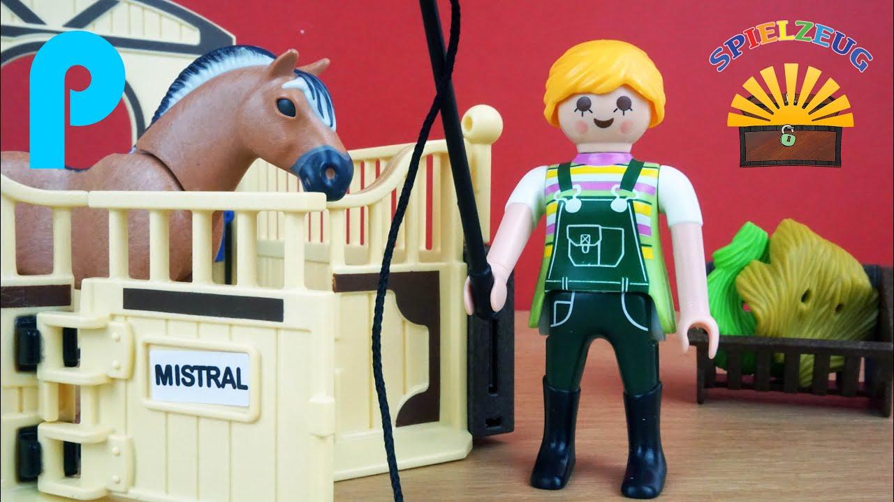 Fjord pferd mit braun gelber pferdebox 5517 playmobil - Pferde playmobil ...