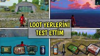 KİMSENİN ATLAMADIĞI YERLERE ATLAYIP LOOT TESTİ YAPTIM!! 💰 - Pubg Mobile Karşılaştırma
