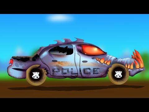 Mobil Polisi yang Menakutkan   Kendaraan untuk anak   Video yang menyeramkan   Scary Police Car