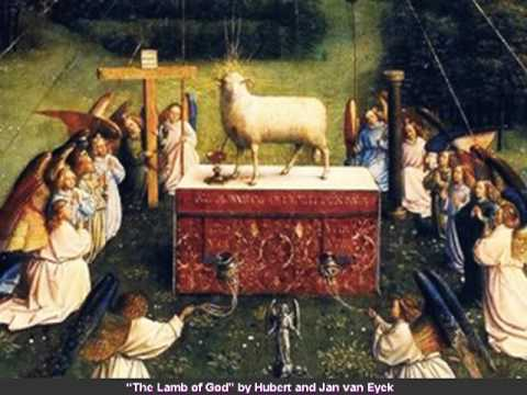 Image result for heavenly throne room lamb of God
