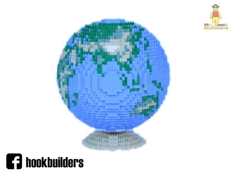 Lego Earth Globe - Stop motion