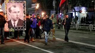 Факельное фествие ко Дню рождения Степана Бандеры