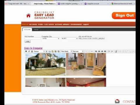 Craigslist Easy Lead Generator Ad Builder