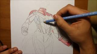 Miss Marvel Carol Danvers - Speed Drawing