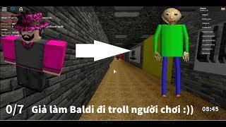 Roblox | As Basic Baldi's go troll players | Baldi's Basics [Beta]
