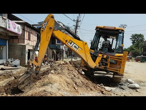 JCB Dozer Collecting Mud and Leveling Ground - JCB Dozer Working For Road Construction - JCB Video