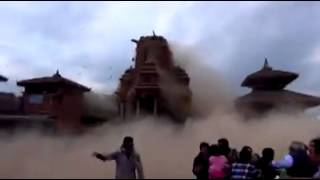 LIVE footage of Earthquake In Bhaktapur Darbar Square