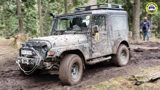 Mahindra Thar & Suzuki Gypsy On Muddy Off-Road Trail | Off-Road Adventure | Kashmir Off Road
