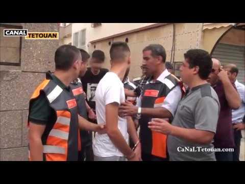 اعادة تمثيل جريمة سرقة بحي المحنش الثاني بمدينة تطوان