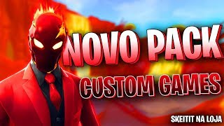 🔴FORTNITE - NOVO PACK! | NOVO LOBBY DE 16 PLAYERS & CUSTOM GAMES COM INSCRITOS! SKEITIT NA LOJA!!