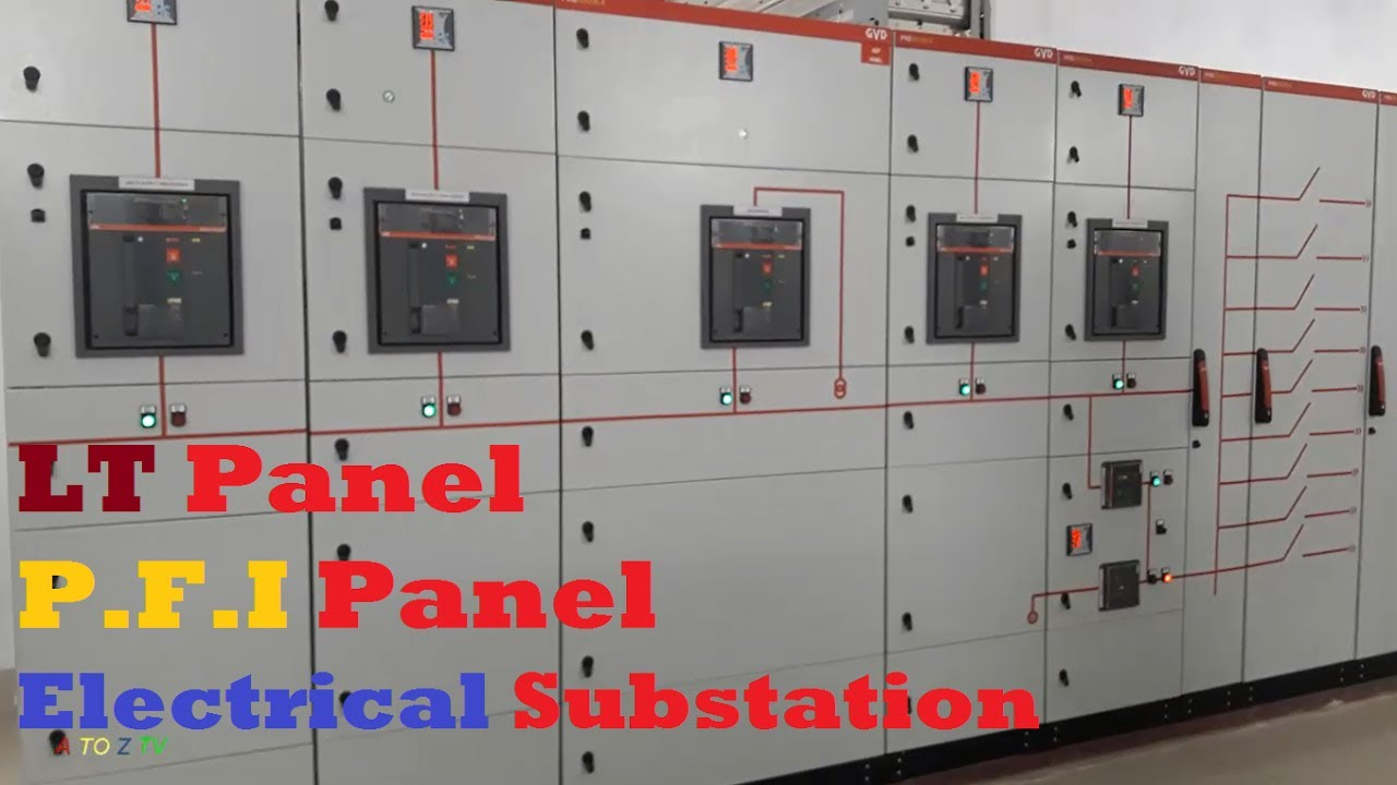 For House Wiring Circuit Breaker Lt Panel Working Inside An Electrical Substation With Pfi