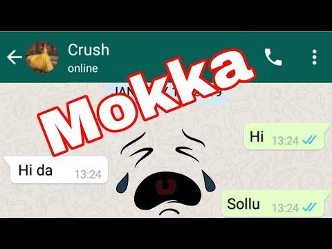 Funny Chat With Crush । Mokka Chat Da । Mjd । Mokka Joke Girl