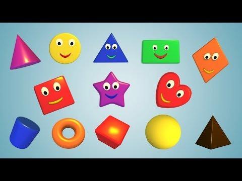 Учим фигуры цвета цифры фрукты с динозавриком по имени Дино с Малышами-грузовичками: бульдозер, кран