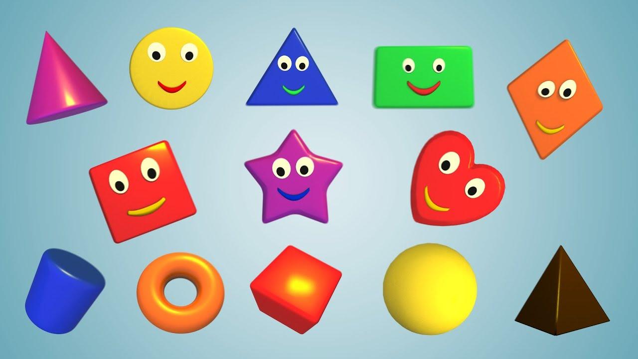 геометрические фигуры для детей от 6 месяцев цвета Весёлые ...