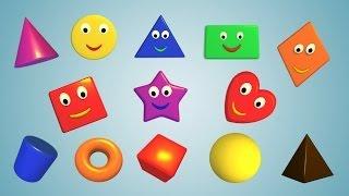 геометрические фигуры для детей от 6 месяцев цвета Весёлые фигуры для самых маленьких