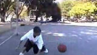awesome sequence of basketball freestyle street