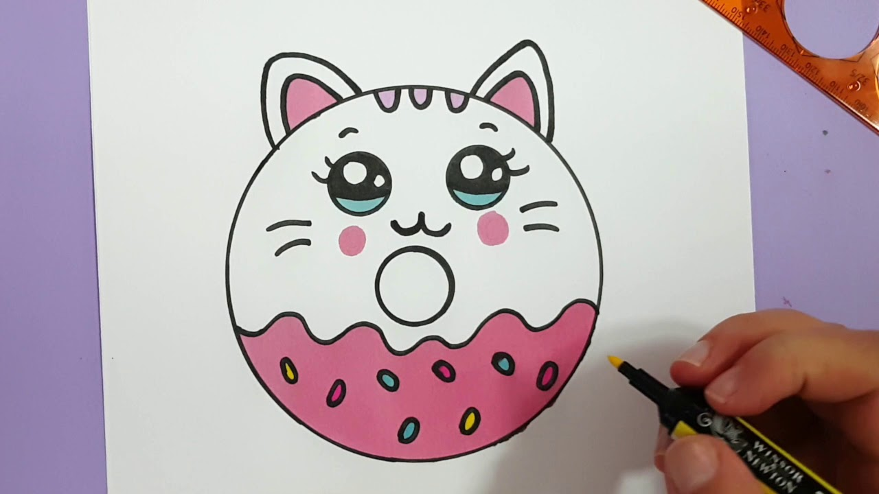 This is an image of Enterprising Cute Kitten Drawing