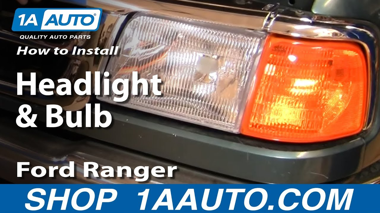 hight resolution of how to install replace headlight and bulb 93 97 ford ranger 1aauto com youtube