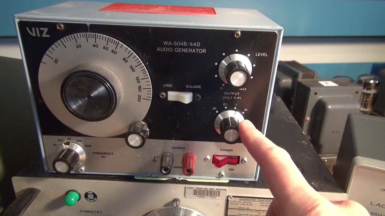 How to select Audio Generator Tube amp or Radio repair D-Lab electronics