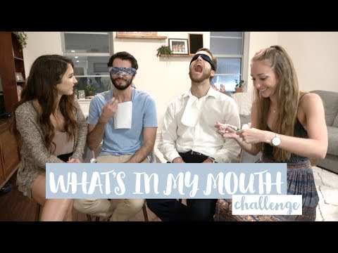WHAT'S IN MY MOUTH CHALLENGE // couples edition