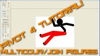 Pivot 4 Tutorial - Multicoloured Stick Figures/Joining figures [HD]