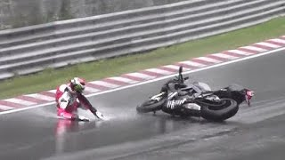 Motorcycle Crash & Fail Compilation Nordschleife Nürburgring 2013 - 2015