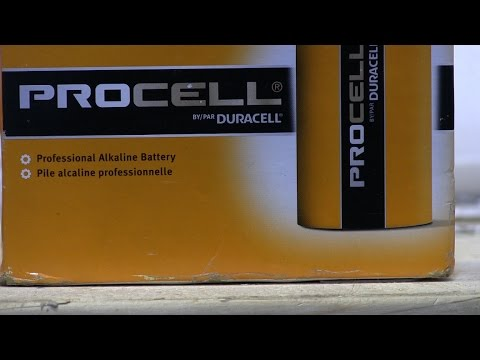 Test Of Duracell PROCELL D Batteries