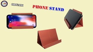 Origami Phone Stand - How to Make Origami Phone Stand - DIY