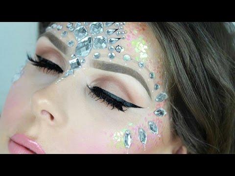 Glitter & Face Jewels Festival Makeup Tutorial! | Alice Jackson